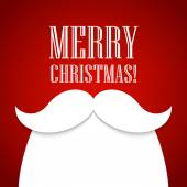 Christmas card with a beard and mustache Santa Claus Vector illustration
