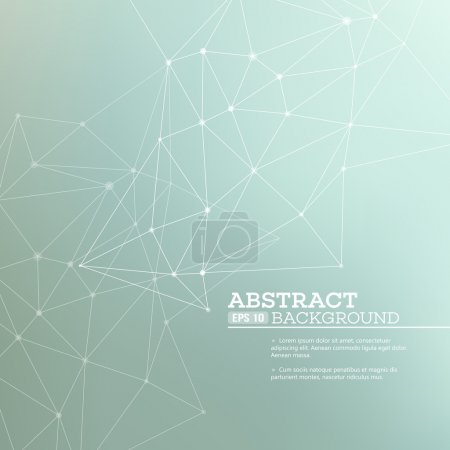 Illustration for Abstract background with  connection concept. Vector illustration EPS 10 - Royalty Free Image