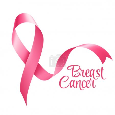 Illustration for Breast Cancer Awareness Ribbon Background. Vector illustration EPS 10 - Royalty Free Image