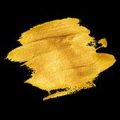Gold acrylic paint Vector illustration