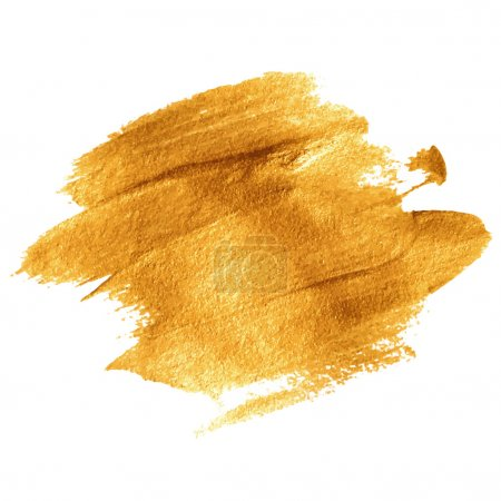 Gold acrylic paint. Vector illustration EPS 10...