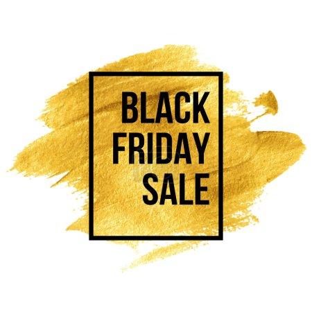 Photo for Black Friday  Designs on gold blob. Vector illustration EPS 10 - Royalty Free Image