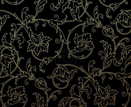 Luxury Golden Seamless Wallpaper Pattern. Vector illustration