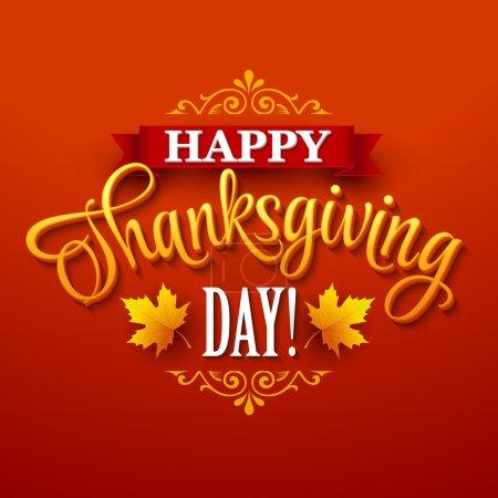 Typographic Thanksgiving Design. Vector illustration