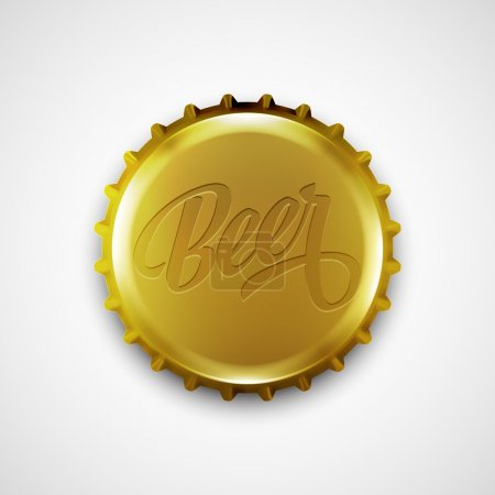 Beer bottle cap. Vector illustration