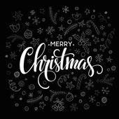 Veselé vánoční nápisy designu. Vektorové ilustrace