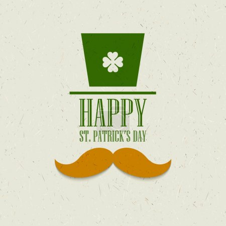 Conception de carte plat St. Patricks Day. Illustration vectorielle