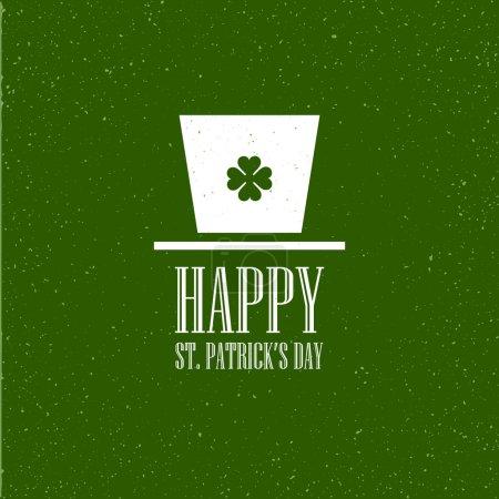 Illustration pour Carte plate St. Patricks Day. Illustration vectorielle EPS10 - image libre de droit