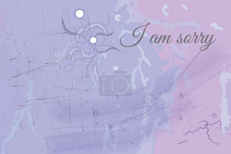 Illustration for I am sorry vector abstract texture, place for text - Royalty Free Image