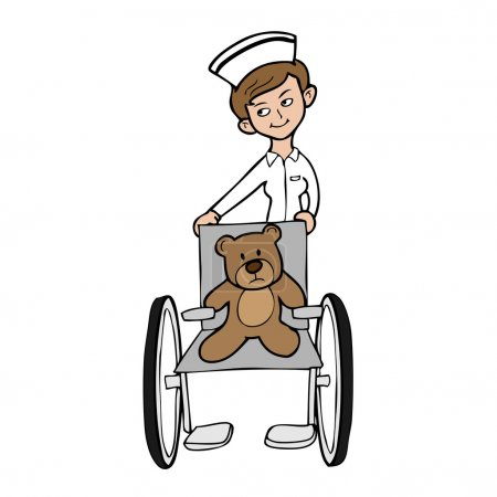 Nurse wheel chair bear