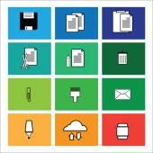 Computer command icons window