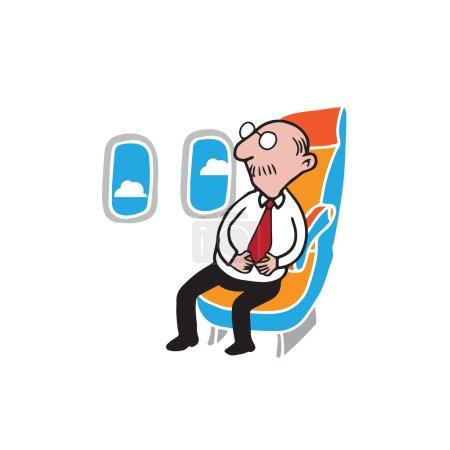 Airplane passenger senior businessman
