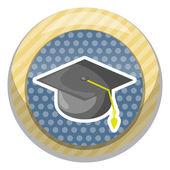 Graduation cap colorful icon
