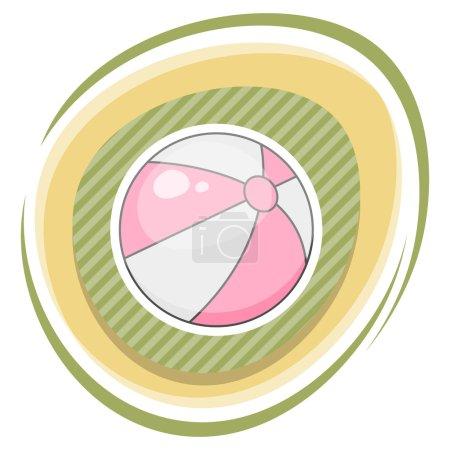 Beach ball colorful icon