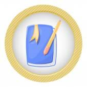 Barevná ikona roztomilý poznámkového bloku