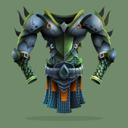 Steel armor. Vector illustration....