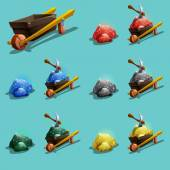 Set of resource icons for games