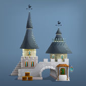 Cartoon Medieval house