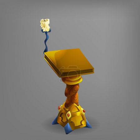 Cartoon stand for book