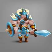 cartoon barbarian warrior