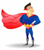 Super hero vector illustration on a background