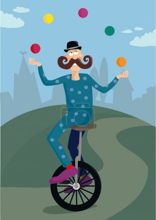 Unicycle juggler