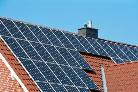 Solardach auf einem einzigen Haus