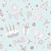 Pattern on the theme of children's parties