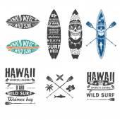 Surfing emblem set 2