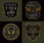Military patch set suitable for modification for multiple uses