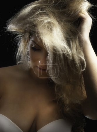 Pretty Blonde Latina with Messy Hair