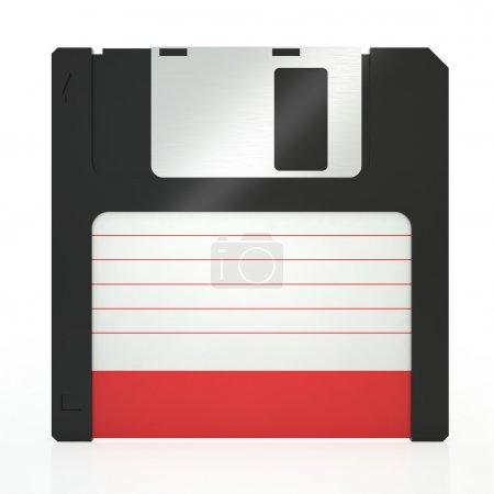 Photo pour Vieille disquette sur un fond blanc - image libre de droit