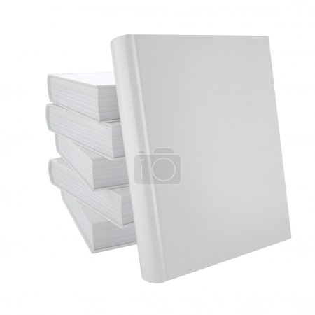 Photo for Blank book cover isolated on white background - Royalty Free Image