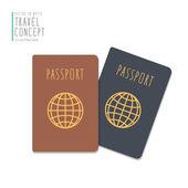 Passports flat vector