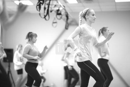 Photo pour Programme de jogging fitness pour femmes - image libre de droit