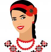 Vector Ukrainian girl