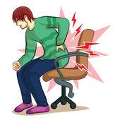 back hurt sign vector
