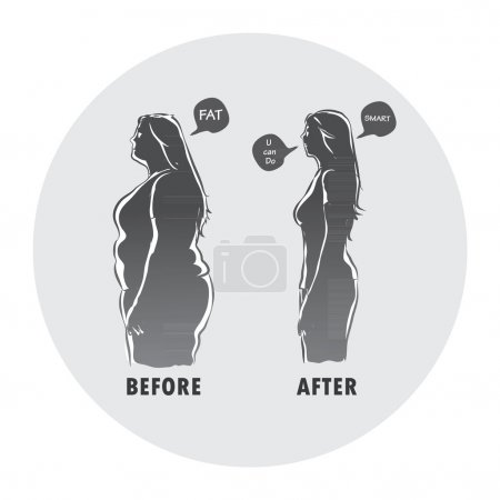 before and after body shape woman