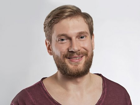 handsome smiling man with beard