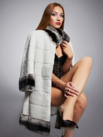 lady boss in fur