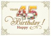 Přání k narozeninám 45 let