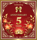 Anniversary card 5 years