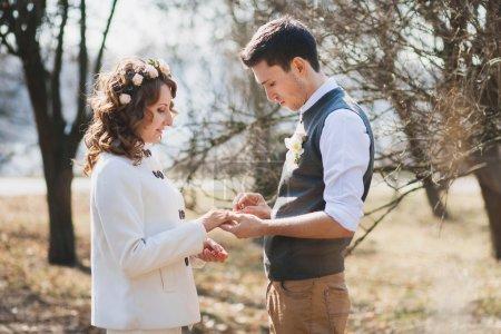 Proposition de mariage. Cérémonie de mariage en plein air
