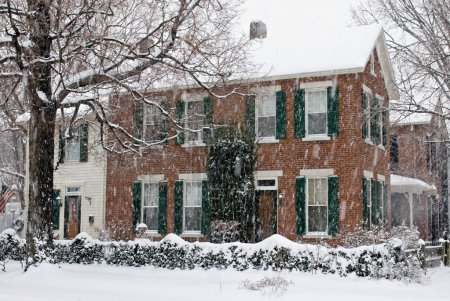Old Home in Snow Storm