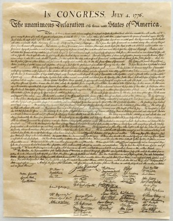 Photo for Copy of the United States Declaration of Independence. - Royalty Free Image