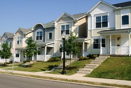 Multiple townhouses for college housing....