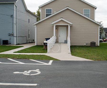 Handicap Parking & Ramp to Housing