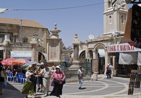 Shoppers at Muristan, Jerusalem