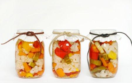 Canned Homegrown Pickled Vegetables