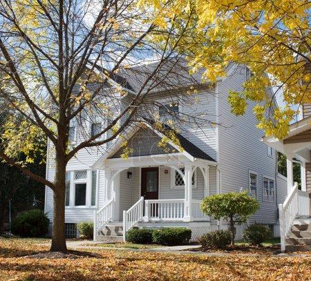 Duplex House in Fall